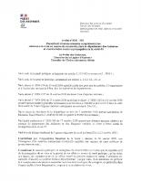 Arrêté n° 2020-215 prescrivant diverses mesures à la mise en œuvre du couvre-feu