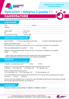 Poules-Candidature